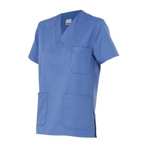 Camisola de pijama sanitario de manga corta VELILLA 589 azul celeste talla 0