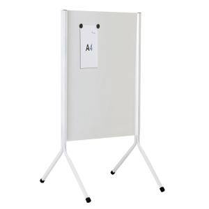Panel informativo estructura metalica de doble cara 121X67X40 blanco