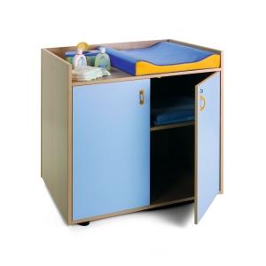 Mueble cambiador 90x96x70 color azul