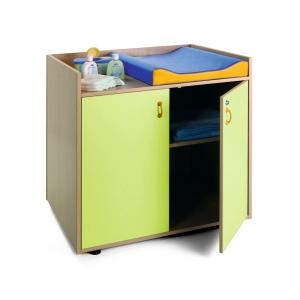 Mueble cambiador 90x96x70 color verde