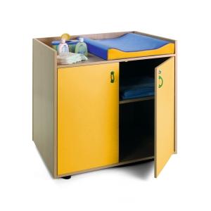 Mueble cambiador 90x96x70 color amarillo