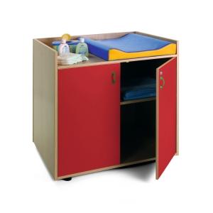 Mueble cambiador 90x96x70 color rojo