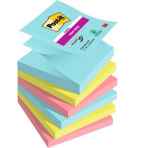 Pack 6 blocks notas adhesivas Post-it Super Sticky Z-notes Miami Dim: 76x76mm