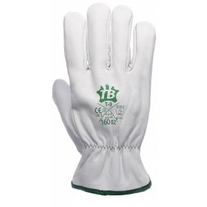 Caja de 10 pares de guantes de cuero Tomás Bodero 160IBSZ - talla 9