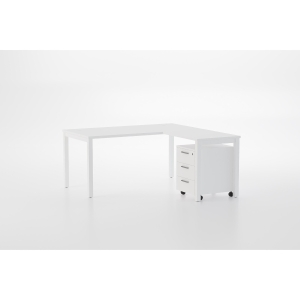 Mesa NOVA con medidas 140x80x75 blanco blanco