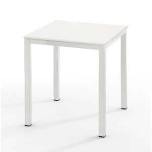 Mesa de break con medidas 70x70mm blanco blanco