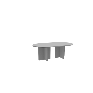 Mesa para reunión OVAL en medidas 200x110x75cm gris gris