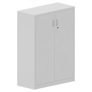 Armario puerta de metal de 3 estantes en dimensiones 138 x 100 x 175 mm blanco