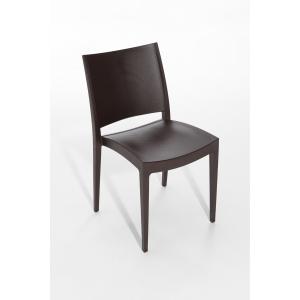 Pack de 2 sillas Sacup modelo cup color marrón