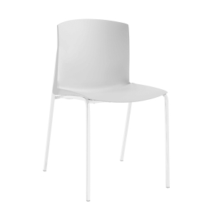 Silla SL- 8 de 4 pies en color blanco sin brazos