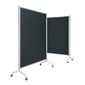 Mampara modular screen fabricada en aluminio 110 x 165 x 190 cm negro