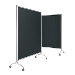 Mampara modular screen fabricada en aluminio 150x165x190 cm negro