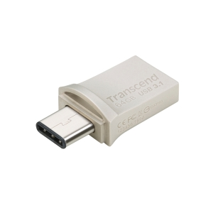 Memoria flash Transcend JetFlash 890 - USB 3.1 - 64 Gb - plata