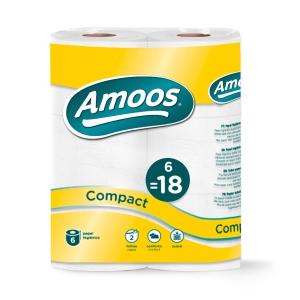 Pack de 6 papeles higienicos AMOOS 50 m