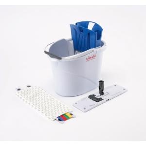 Kit de limpieza Vileda con cubo 10 L, escurridor, palo, soporte y mopa