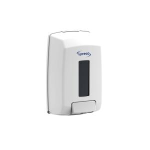 Dispensador de jabón de manos Lyreco - 1,1 L - blanco