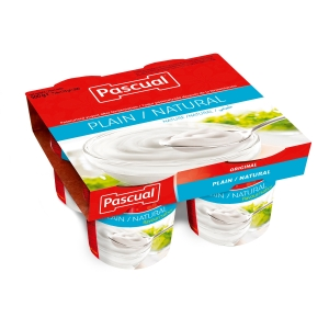 Pack de 4 yogurts natural de 125 g, PASCUAL