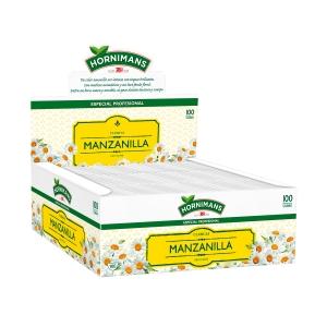 Caja de 100 bolsitas de manzanilla Hornimans