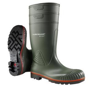Botas de agua DUNLOP Acifort Heavy Duty S5 color verde talla 40
