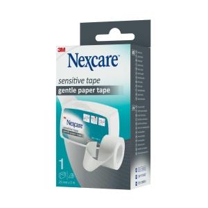 Dispensador con esparadrapo de papel NEXCARE para pieles sensibles
