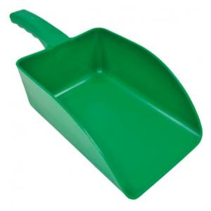 Pala de mano pequeñade polipropileno. Color verde. Capacidad 1000 gr