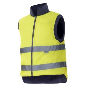 Chaleco acolchado reversible alta visibilidad Velilla 148 - amarillo - talla XXL