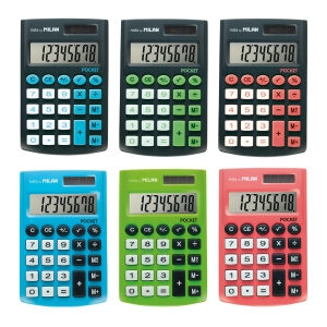 Mini Calculadora 8 Digitos MILAN Pocket Touch