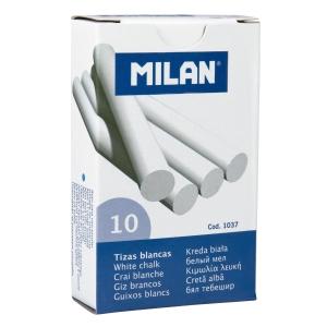 Caja 10 Tizas MILAN De Sulfato De Calcio Blancas