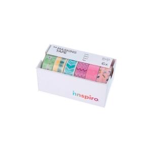 Pack De 6 Cintas Masking Tape Washi Pasteles