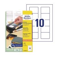Etykiety usuwalne AVERY ZWECKFORM 70x50,8 mm, w opakowaniu 250 etykiet