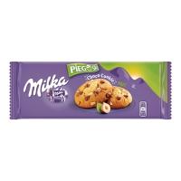 Ciastka MILKA Pieguski, czekolada i orzechy, 135 g