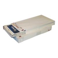 Koperty z rozszerzonymi bokami i dnem, 200x310x40 mm, białe, 20 sztuk