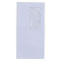 Koperty samoklejące DL, 110x220 mm, białe, okno prawe, 1000 sztuk
