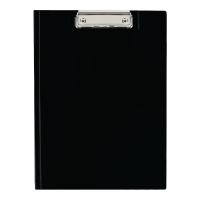 Teczka z klipem BIURFOL z wewnętrzną kieszenią na dokumenty, czarna, A4