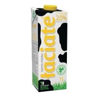 Mleko ŁACIATE UHT 2,0%, w kartonie z zakrętką, 1 l