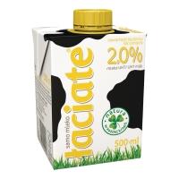 Mleko ŁACIATE UHT 2,0% 0,5 L w kartonie (z zakrętką)