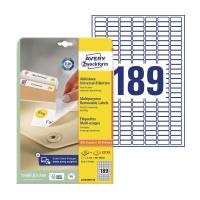 Etykiety usuwalne AVERY ZWECKFORM 25,4x10 mm, w opakowaniu 4725 etykiet