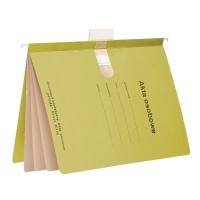 Skoroszyt zawieszkowy SPIRAL Akta osobowe A4 żółty opakowanie 10 sztuk