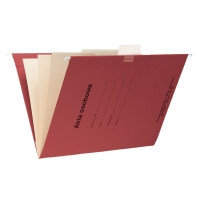 Teczka zawieszkowa SPIRAL Akta osobowe A4 czerwona opakowanie 10 sztuk