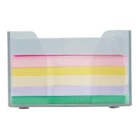 Pojemnik na wkłady papierowe i długopisy plastikowy z kolorowym wkładem