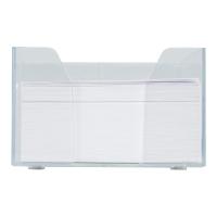 Pojemnik na wkłady papierowe i długopisy plastikowy z białym wkładem
