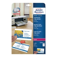 Wizytówki AVERY ZWECKFORM Quick&Clean™ do drukarek laserowych, 220 g