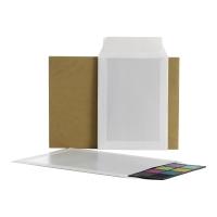 Koperty wzmacniane kartonem B4, 256x356 mm, brązowe, 10 sztuk