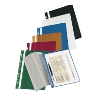 Skoroszyt LYRECO wpinany, twardy PVC, niebieski
