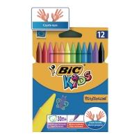 Kredki świecowe BIC Kids Plastidecor, 12 kolorów