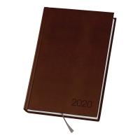 Kalendarz DAN-MARK Agenda, A5, dzienny, brązowy