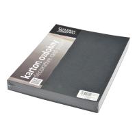 Okładka MIKA kartonowa czarna, w opakowaniu 100 sztuk