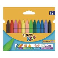 Kredki świecowe BIC Kids Plastidecor trójkątne, 12 kolorów
