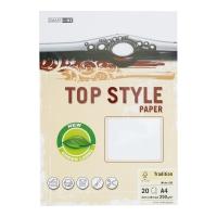 Papier ozdobny TOP STYLE Tradition, kolor biały, 250 g/m?, 20 arkuszy
