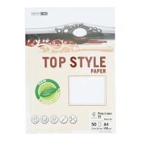 Papier ozdobny TOP STYLE Laid, kolor biały, 100 g/m?, 50 arkuszy